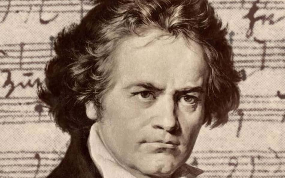 Beethoven portrait in pencil