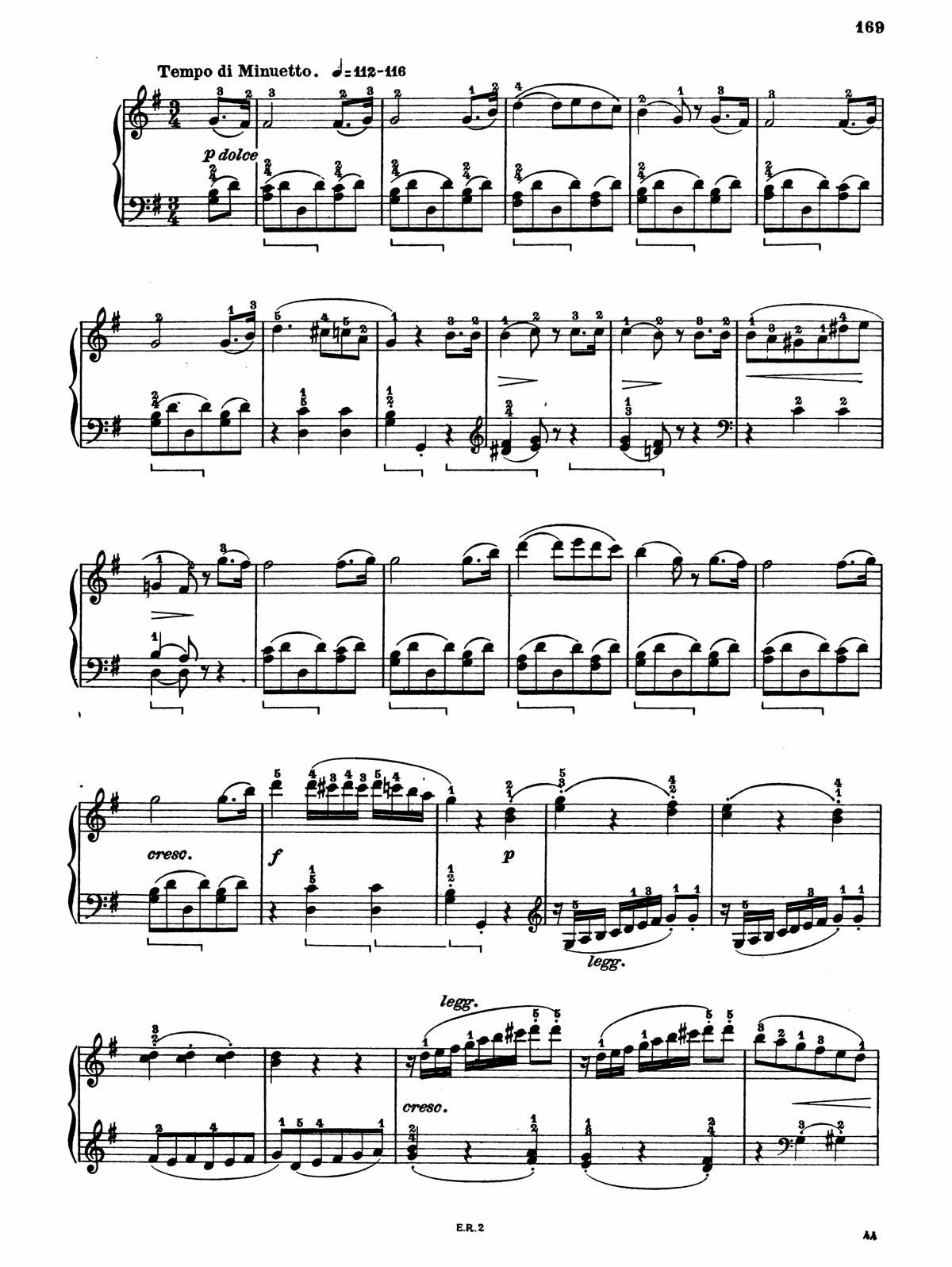 Beethoven Piano Sonata 20-6 sheet music