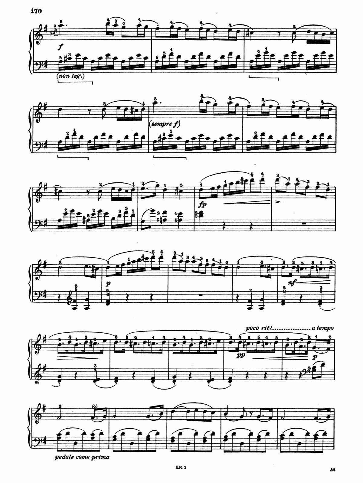 Beethoven Piano Sonata 20-7 sheet music