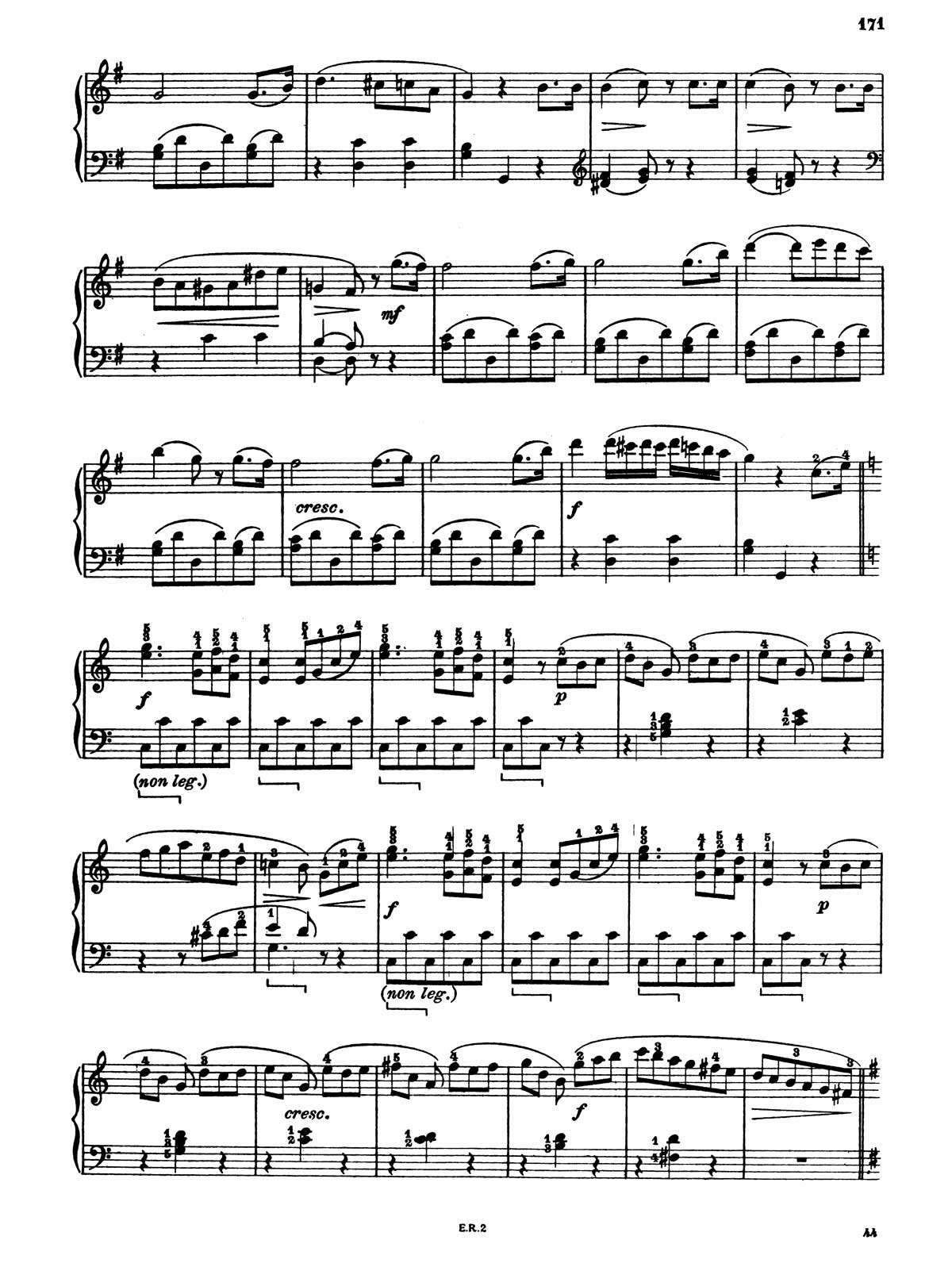 Beethoven Piano Sonata 20-8 sheet music