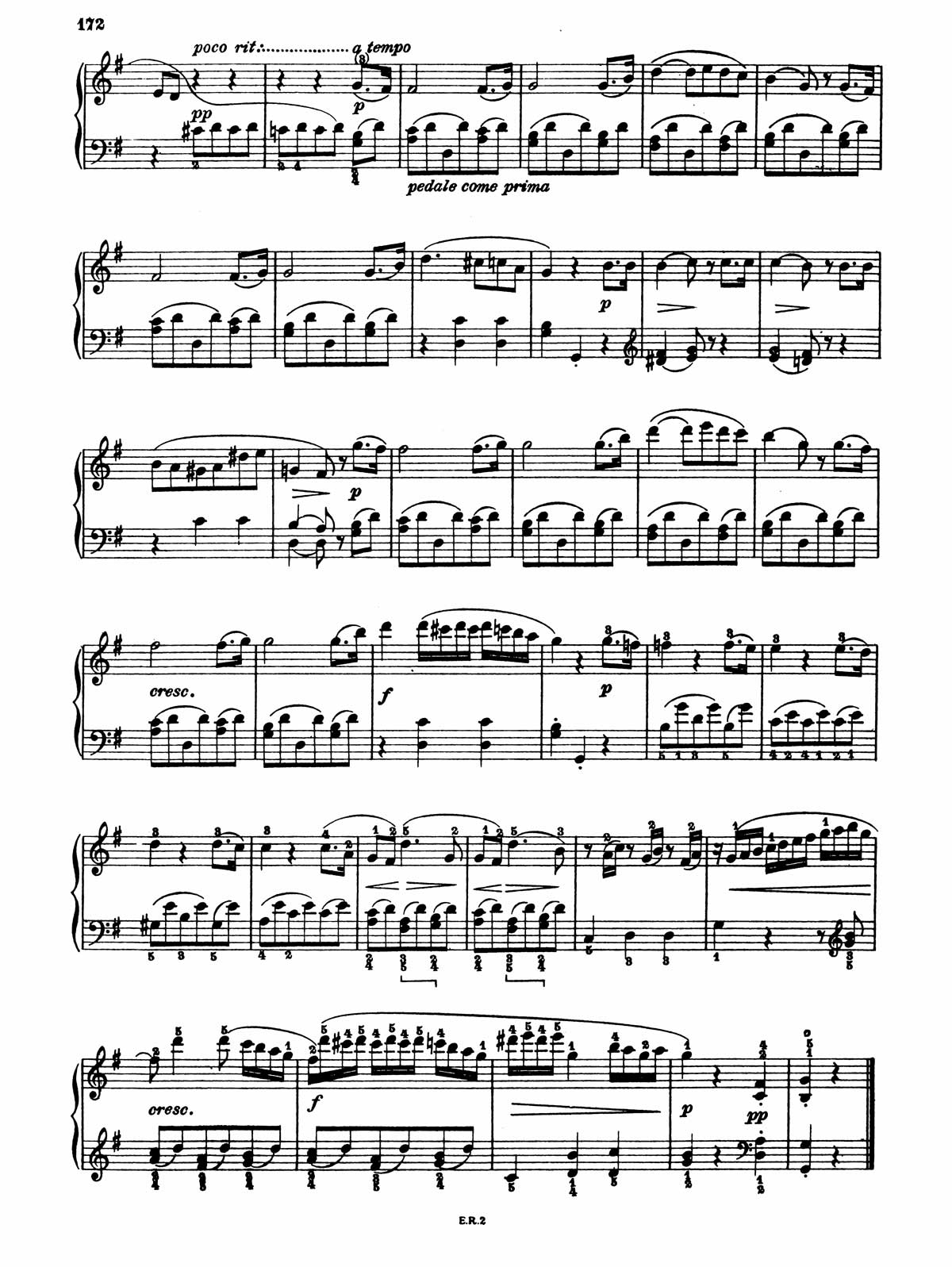 Beethoven Piano Sonata 20-9 sheet music