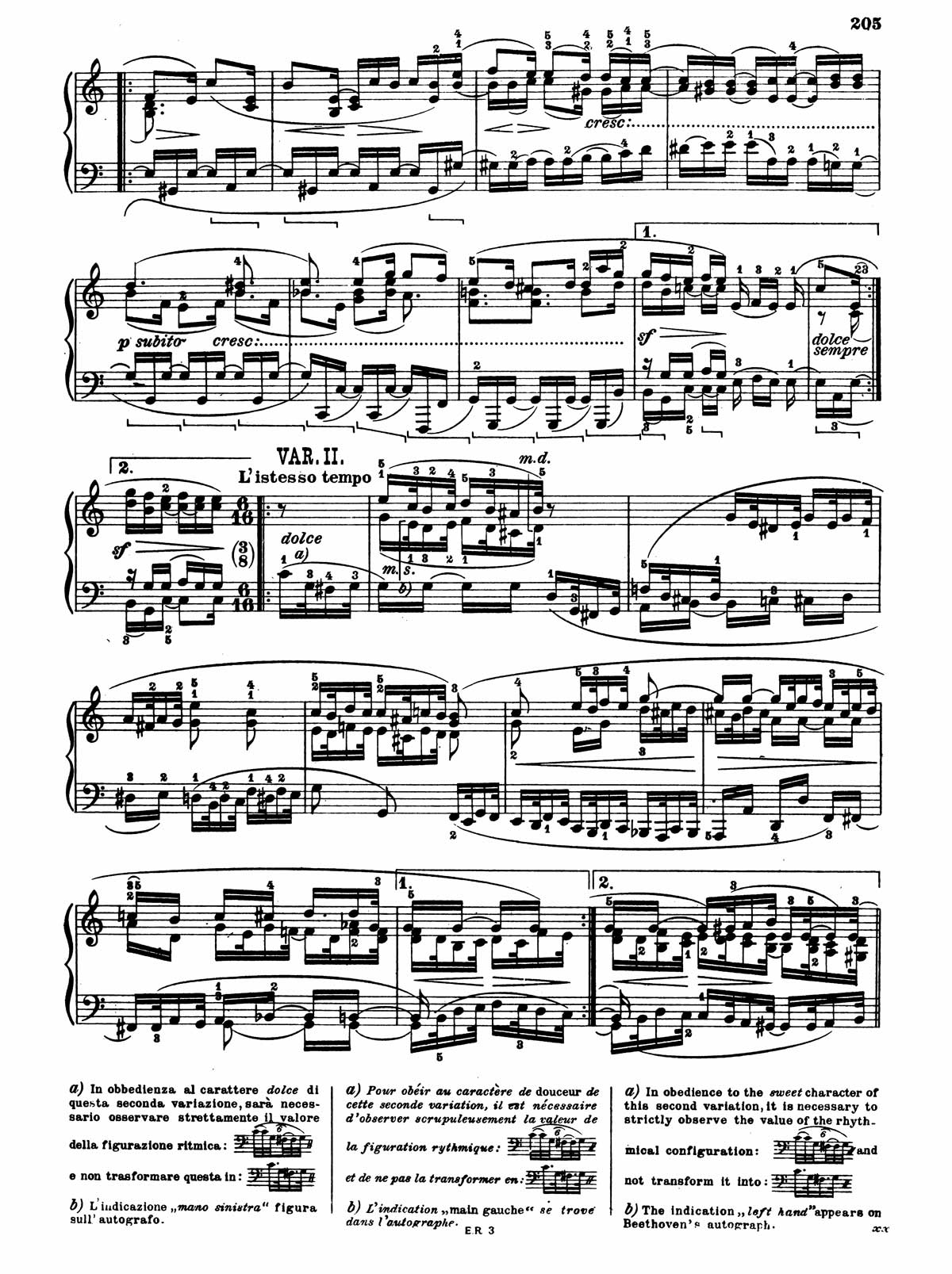 Beethoven Piano Sonata 32-13 sheet music