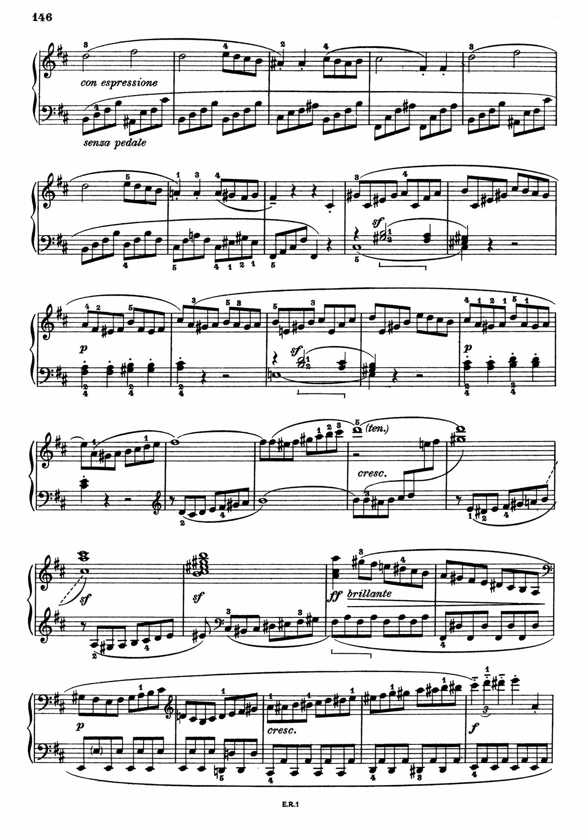 Beethoven Piano Sonata 7-2 sheet music