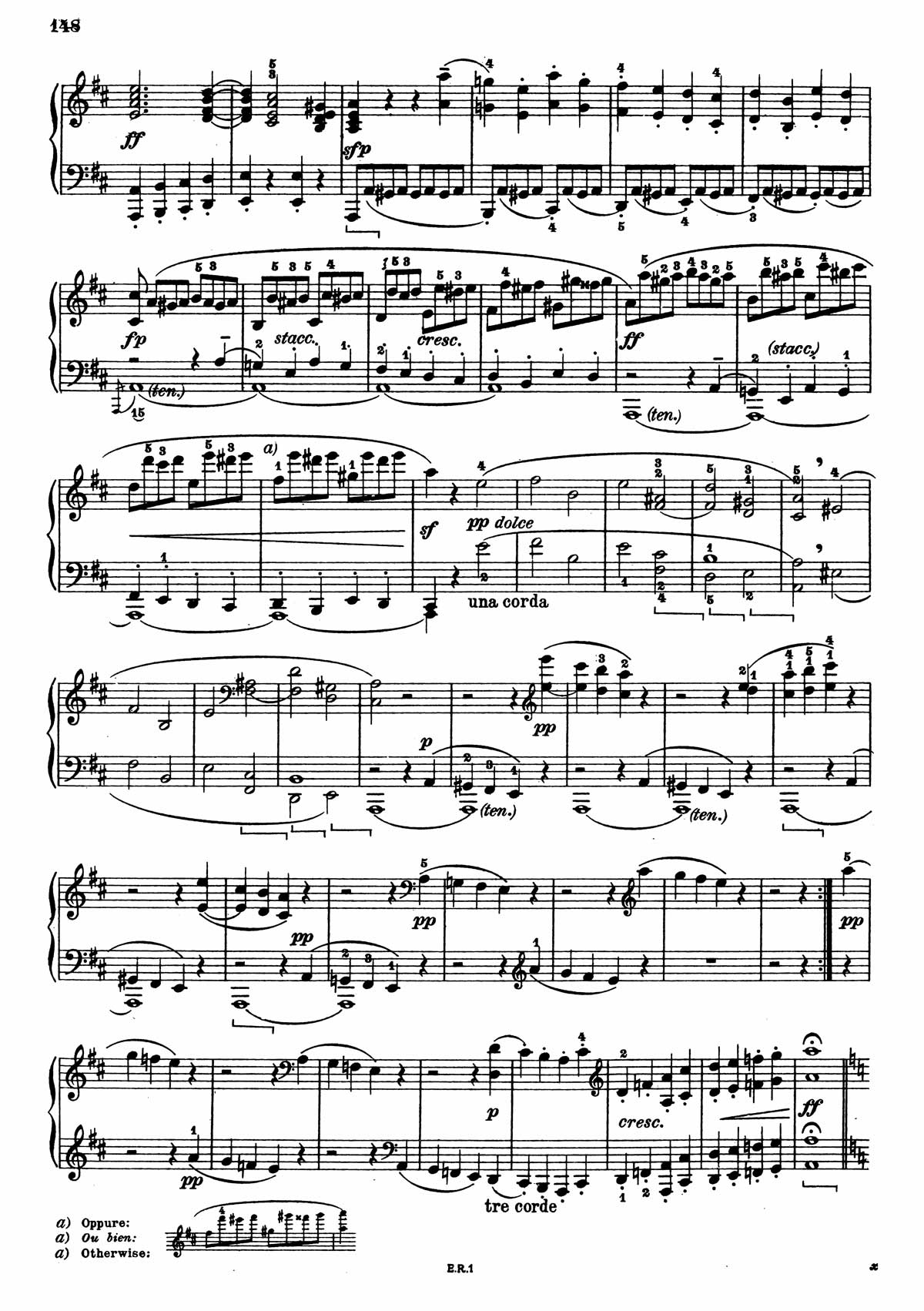 Beethoven Piano Sonata 7-4 sheet music