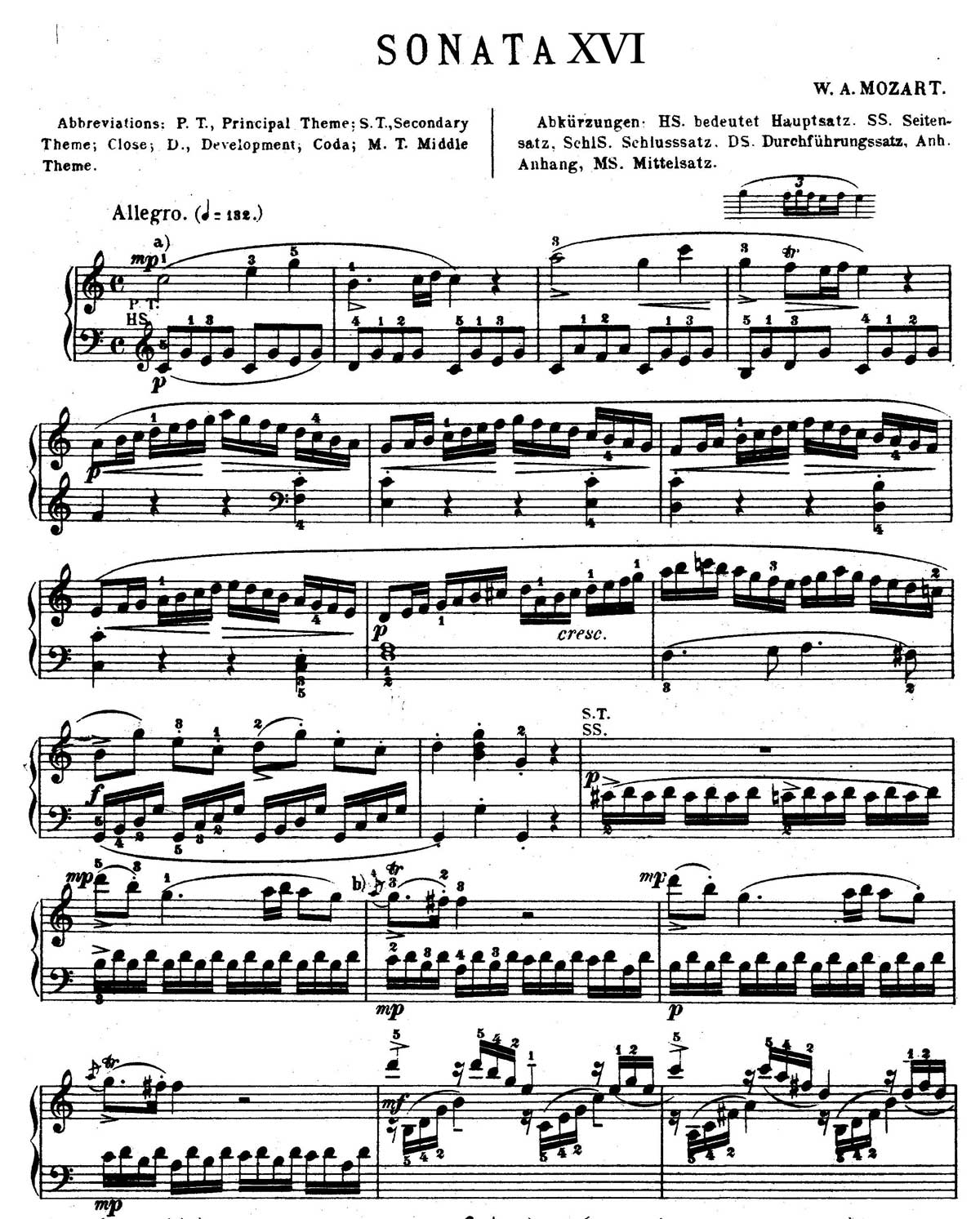 Mozart Piano Sonata 16-sheet music 1