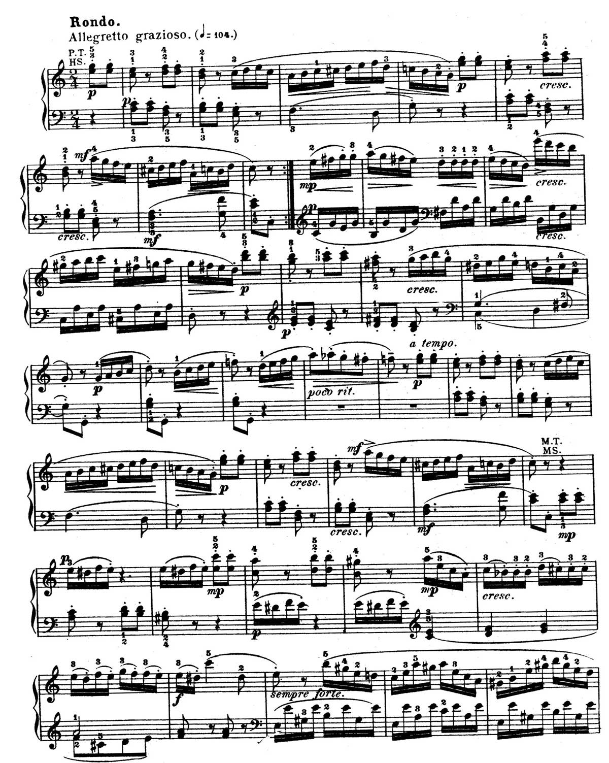 Mozart Piano Sonata 16-sheet music 10