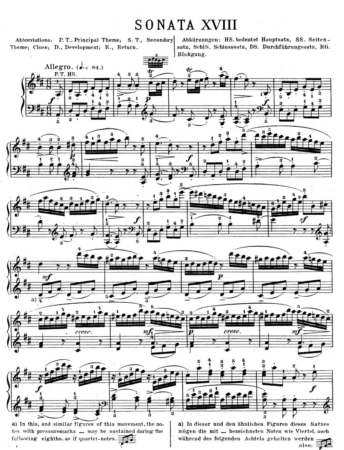 Mozart Piano Sonata 18-sheet music 1