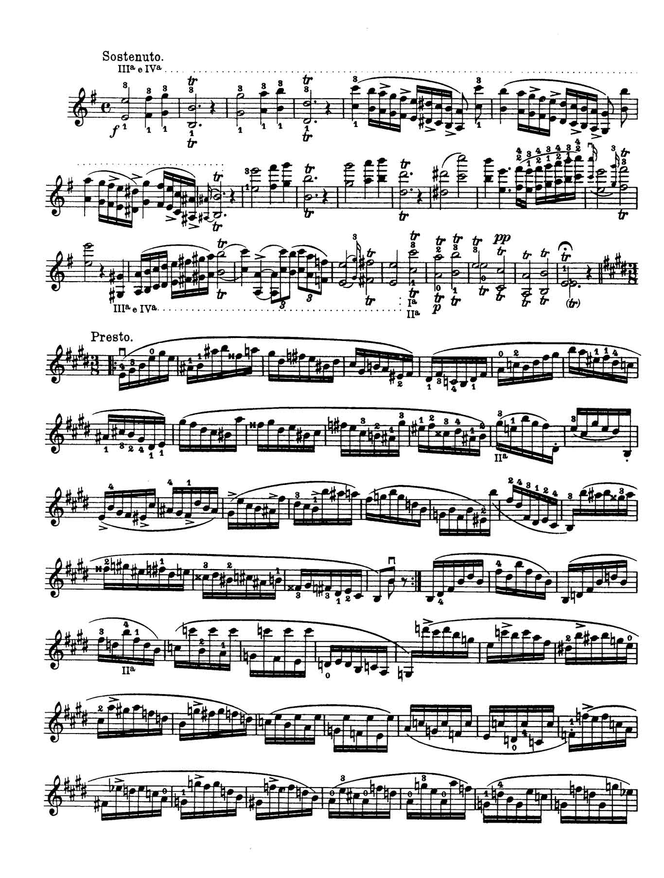 Paganini Violin Caprice 3-sheet music 1