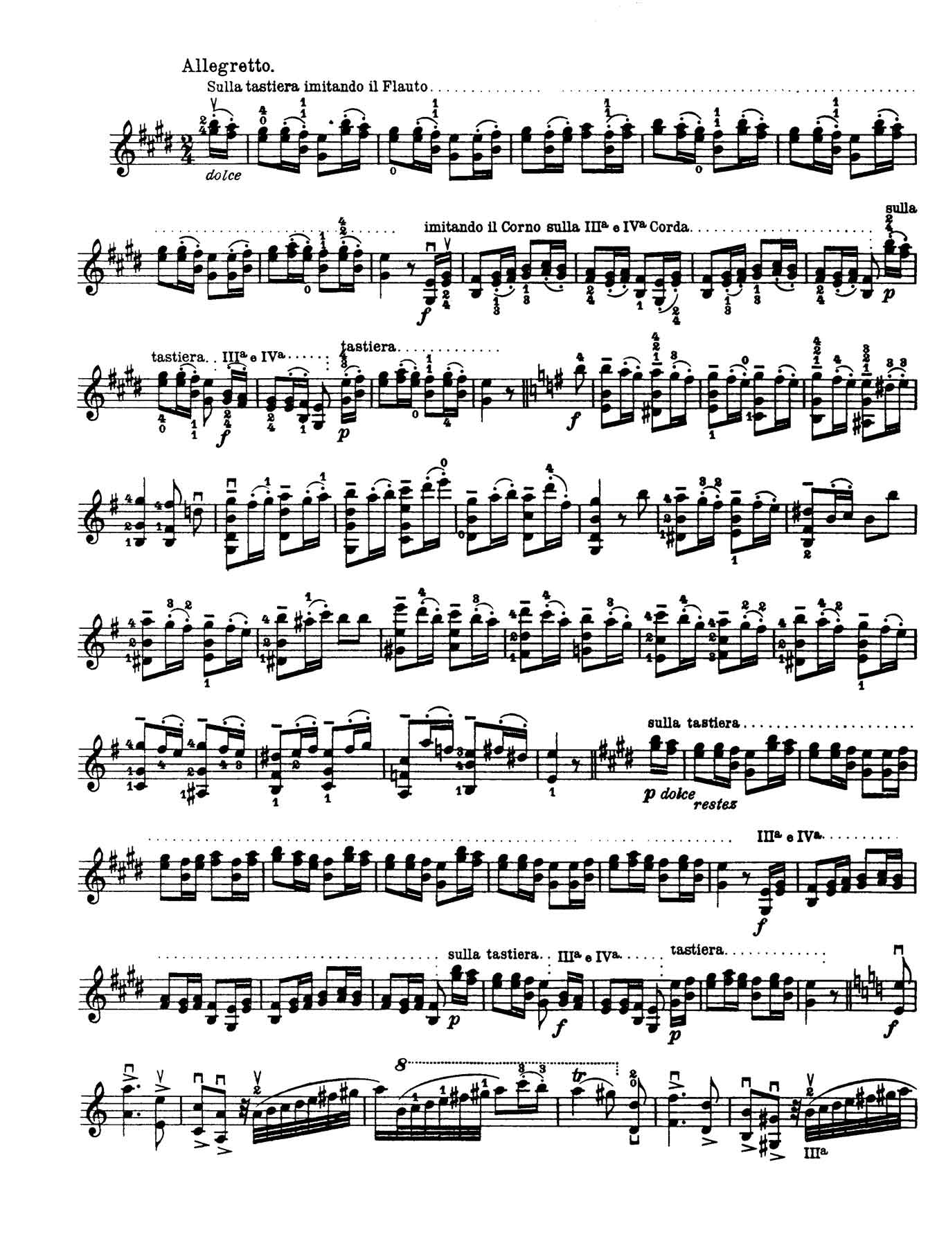 Paganini Violin Caprice 9-sheet music 1