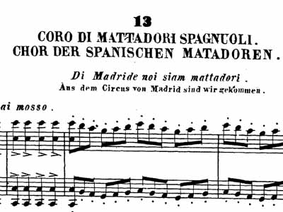 Choir of the Matadors of the Opera La Traviata